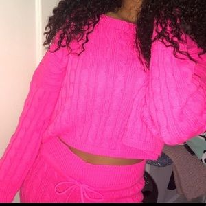 Hot pink two piece set